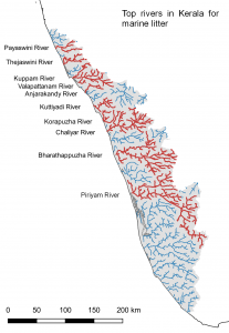 The main rivers transporting plastic